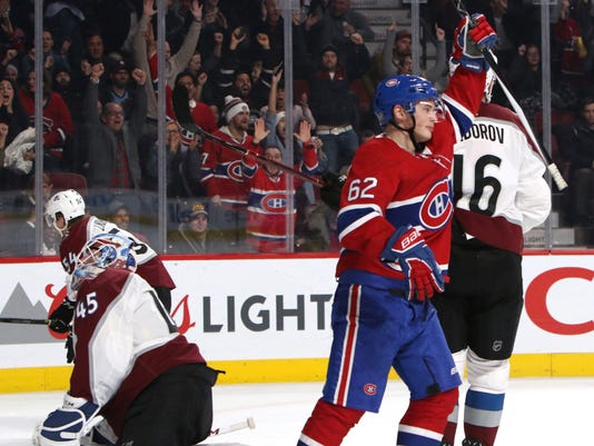 NHL: Colorado Avalanche at Montreal Canadiens