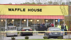 Four people died after a gunman opened fire at a Waffle