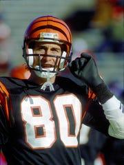 Dec 7, 1986; Foxboro, MA, USA; Cincinnati Bengals receiver