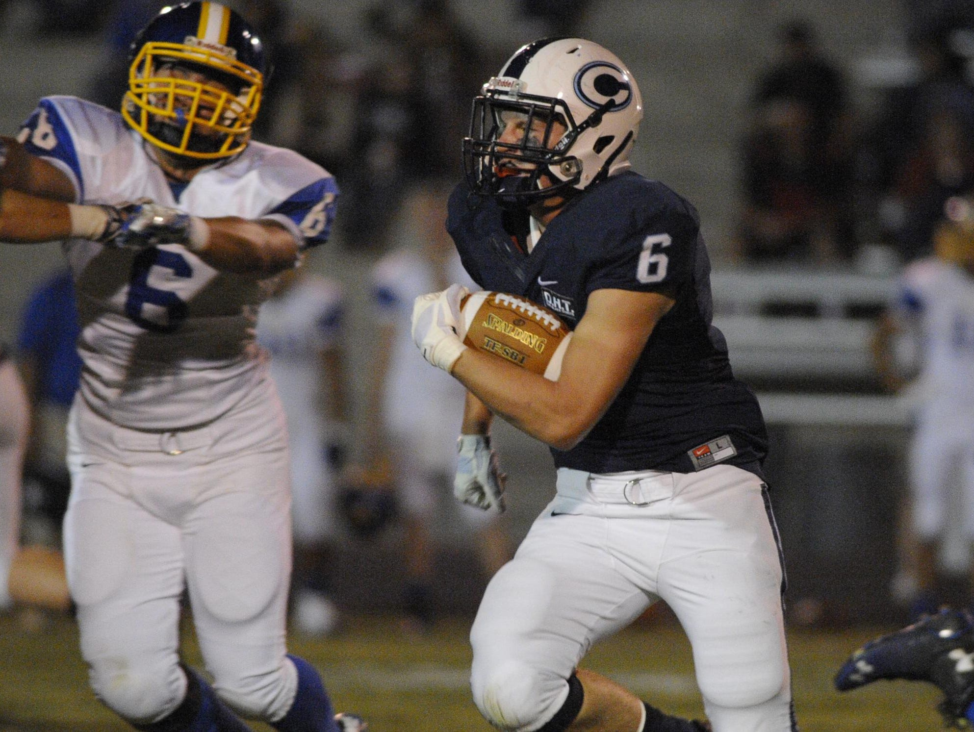 Kolin Stock is the featured running back for CVC in 2015.