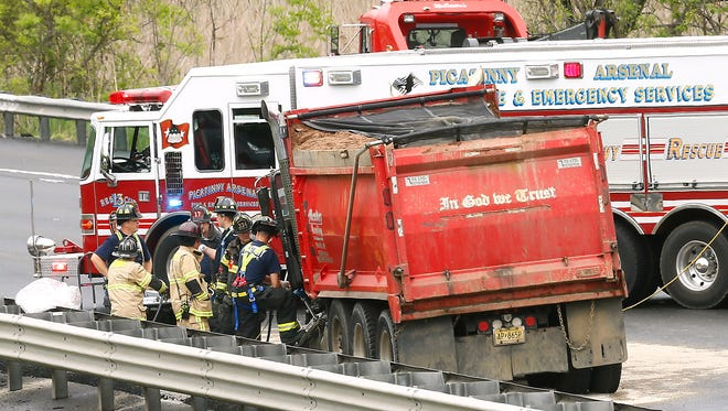 A dump truck was also involved in the serious accident on Route 80 in Mount Olive.