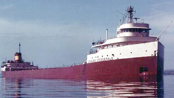 The 729-foot freighter Edmund Fitzgerald went down in Lake Superior on Nov. 10, 1975.