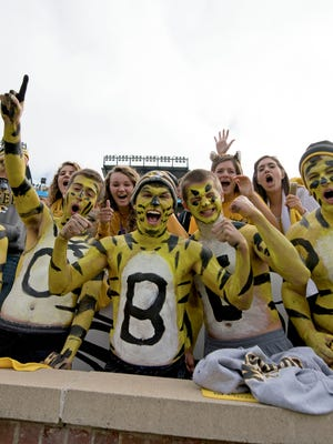 Missouri students cheer for the Tigers during recent game.