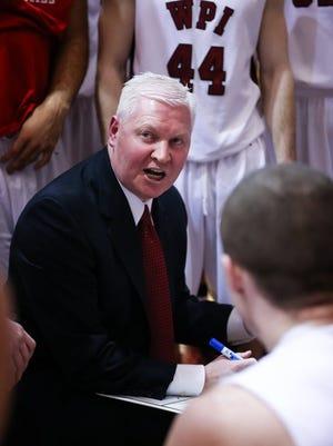 WPI men's basketball coach Chris Bartley.