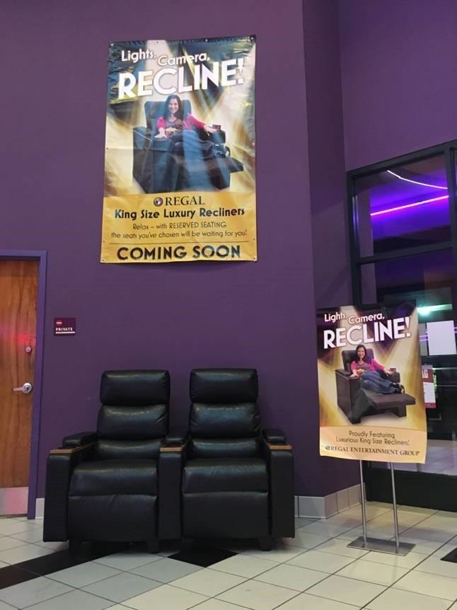 Regal Green Hills Stadium 16 features King-Size recliners & Luxury recliners reserved seating coming to Regal Green Hills theater islam-shia.org