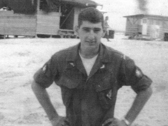 Sgt. Thomas Grezaffi of Tallahassee, Fla., in June 1968, age 22, ending his U.S. Army tour in Cam Ranh Bay, Vietnam.
