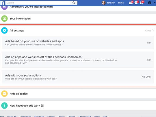 You can change how Facebook tracks your web browsing habits.