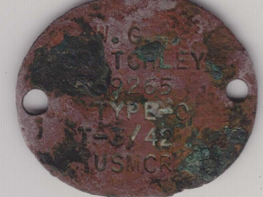 Cpl. Walter Critchley's original tags that were found