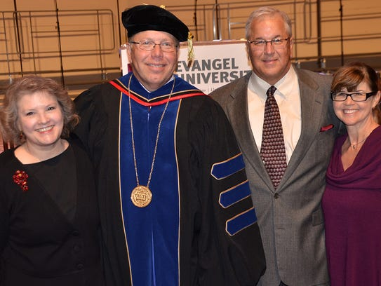 Michael McCorcle (robes) was installed as provost/vice