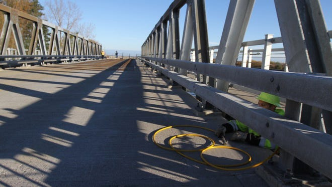 The bridge connecting Webster and Irondequoit opened Monday.