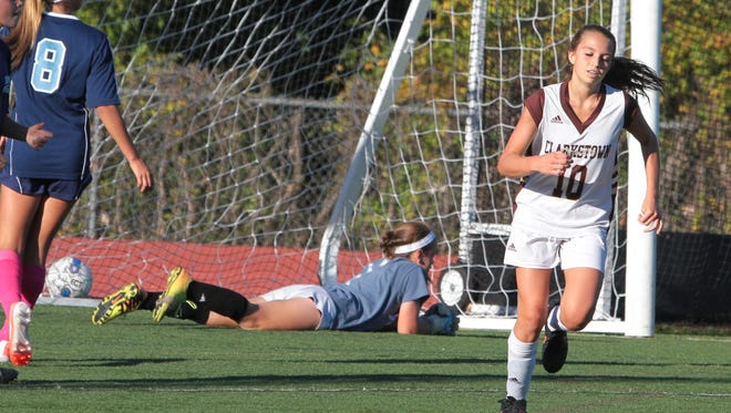 Clarkstown South handed Suffern it's first loss of the season with a 4-1 victory in a varsity soccer game at Clarkstown South High School Oct. 6, 2015.