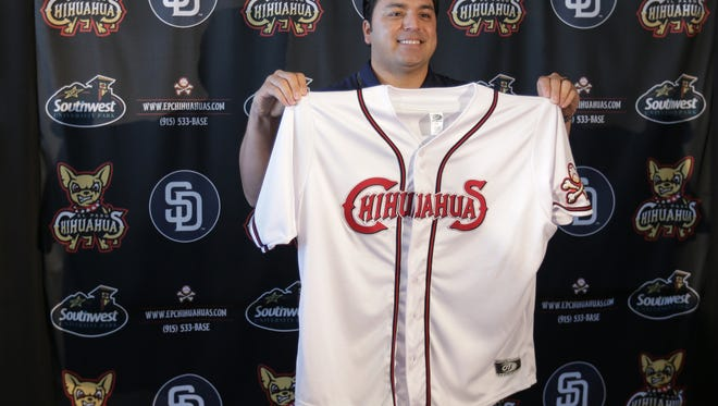 The El Paso Chihuahuas introduce their new Field Manager Rod Barajas during a press conference Thursday at Southwest University Park. The former major leaguer and former El Paso Diablo will join the Chihuahuas.