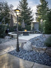 The Webbs' lovely home and garden in Palo Cedro will