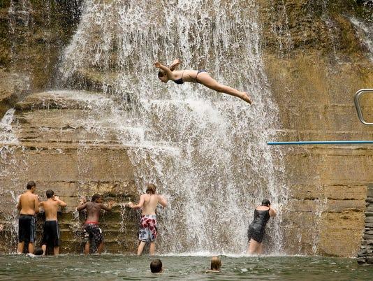 Treman State Park swimming