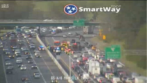 Wreck on I-65 North in Williamson County.