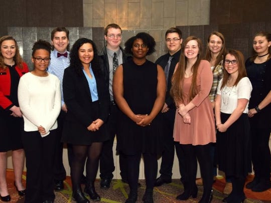 2017 Youth of the Year candidates include back row,