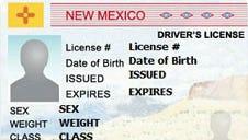 A New Mexico driver's license.