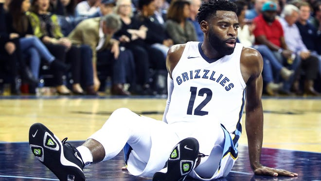 Grizzlies guard Tyreke Evans during the fourth quarter against the Orlando Magic on Wednesday.
