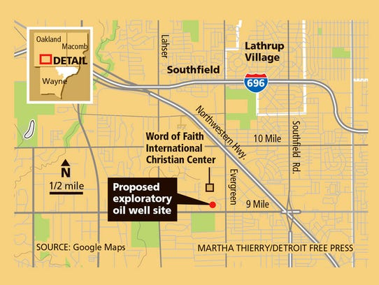 Proposed exploratory oil well site