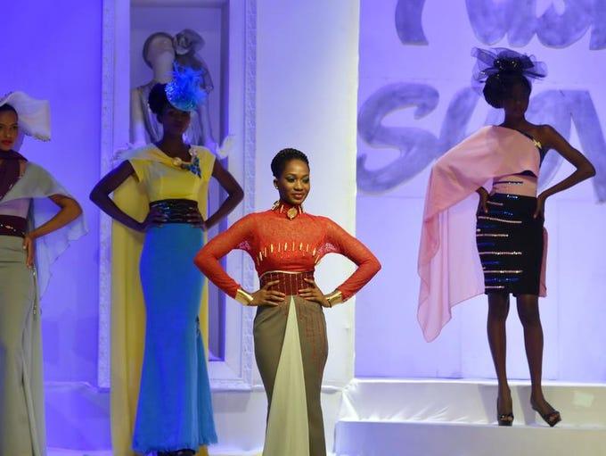 "Models take part in the 9th ""Afrik Fashion"" in Abidjan"
