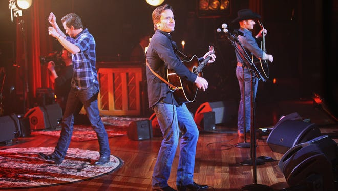 "This undated image released by ABC shows Charles Esten, center, performing on ""Nashville: On the Record,"" ABC Music Lounge's and ABC Digital Media Studio's ""Nashville""-inspired docu-web series."