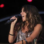 Country music artist Jana Kramer performs at the Academy of Country Music Fremont Street Experience in 2012.