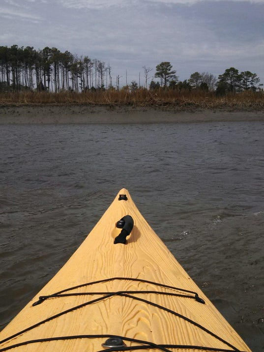 sby in a kayak