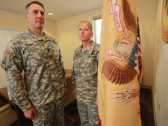 Lt. Col. Tim Hummel and Command Sgt. Maj. Gloria Cain