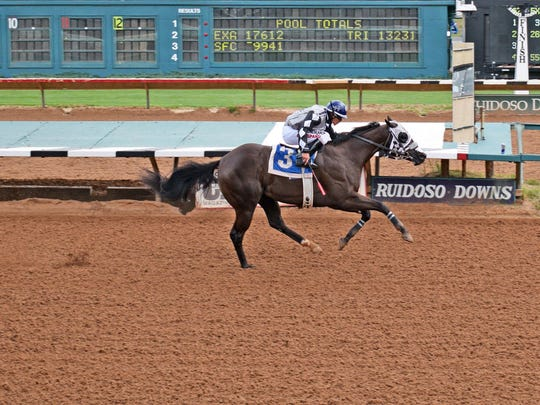 Shakem Bye Perry is competing in the All American Futurity Monday.