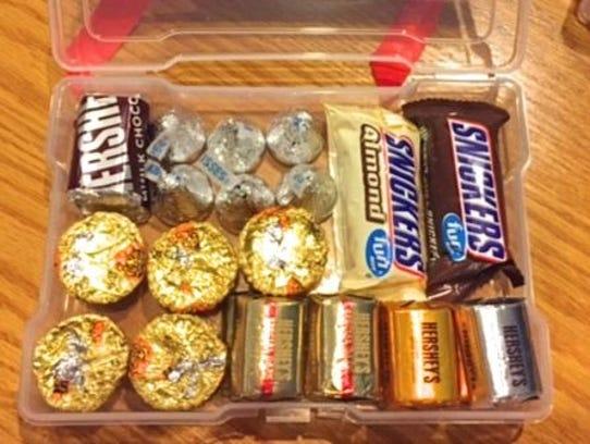 Emergency chocolate kit.