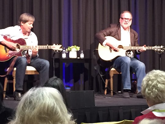 Authors Dave Barry (leftP and Greg Iles offered a musical