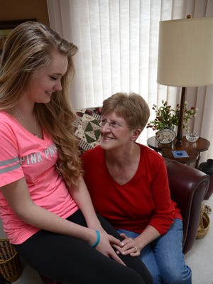 Marilyn Hall shares a laugh with her granddaughter Cheyenne Hall in their Great Falls home. Marilyn and Tom Hall are raising their granddaughter Cheyenne who is now a sophomore at CMR. Marilyn is April's Hometown Hero. She was nominated by Joan Redeen, the mother of one of Hall's former students.