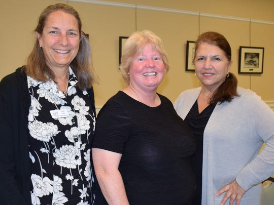 Lori Isaac, left, Mary Silva and Judith F. Lemoncelli