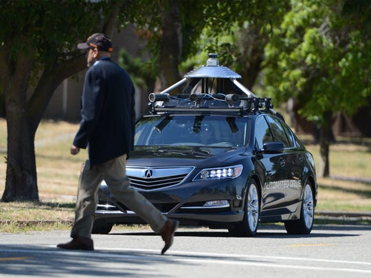 An Acura RLX equipped with autonomous vehicle technology