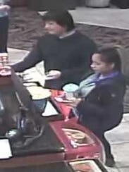 Marathon County Crime Stoppers is asking for your help to identify a male and female in connection to a battery that occurred in the village of Rothschild. The male suspect appears to be Asian or Hispanic, and heavier set with shaggy black hair. He appeared to be wearing red shorts, some type of black slip-on shoes, long white socks, and a black long-sleeve shirt. He was with a female who also appears to be Asian or Hispanic. She was wearing a black jacket, purple scarf, dark pants and tennis shoes.