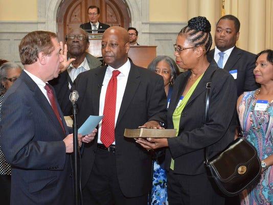 New Jersey Assemblyman William Spearman sworn in