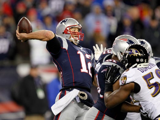 1. Patriots (3): We're thinking they might take a look