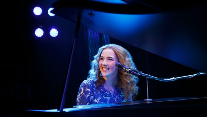"Julia Knitel portrays singer Carole King in the musical ""Beautiful."""