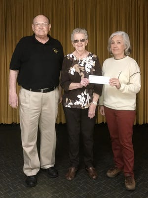 The Mountain Home Elks Lodge No. 1714 recently donated $1,000 to the Mountain Home Food Basket. The Mountain Home Food Basket is a 100-percentvolunteer, nonprofit organization dedicated to helping those in need of food assistance.Pictured are: (from left) Stu Friend, Elks President; Kay Owens, Food Drive Coordinator of the Mountain Home Food Basket; and Sherie Brown, Elks grant coordinator.