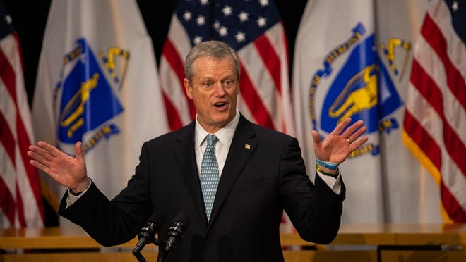 Gov. Charlie Baker announced Friday that restaurants could host indoor dining with some restrictions starting Monday.