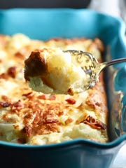 Bacon and Gruyere cheese give Easy Cheesy Cauliflower Gratin lots of flavor.