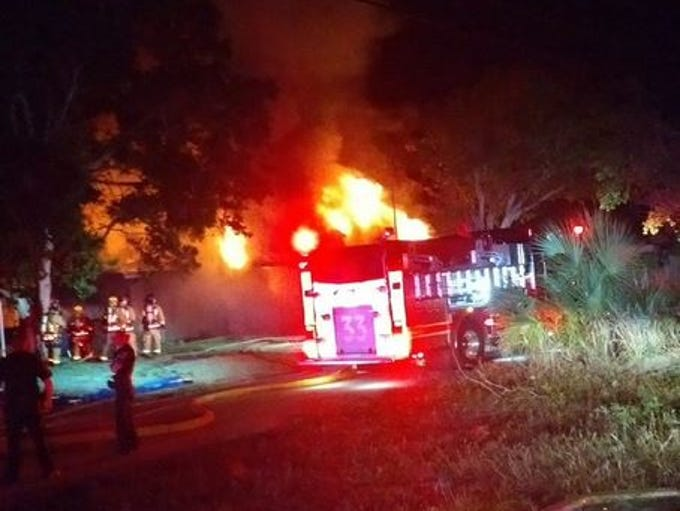 Firefighters respond to a house fire in the 1500 block