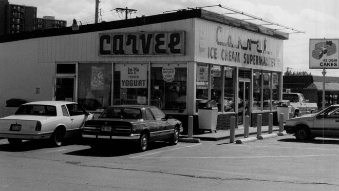 One of the most successful local Carvel franchises, in Irondequoit, was owned by Walter Silverman of Brighton. This is how it appeared in the late 1970s/early 1980s.