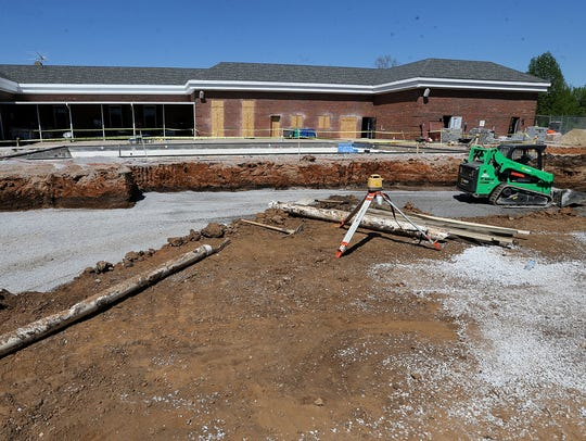 Construction is underway at the Smyrna Town Centre