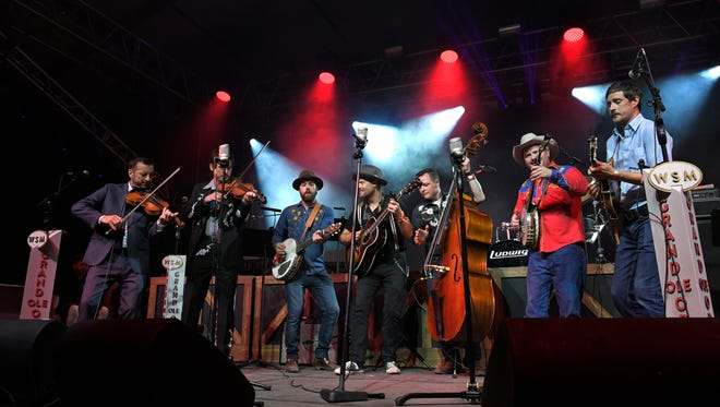 Members of Grand Ole Opry perform on the final night of the 17th annual Bonnaroo Music and Arts Festival in Manchester, Tenn., on June 10, 2018.