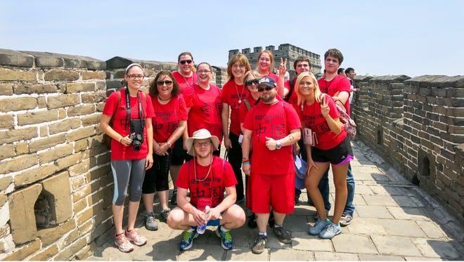 OTC study abroad students toured China, including a stop at the Great Wall