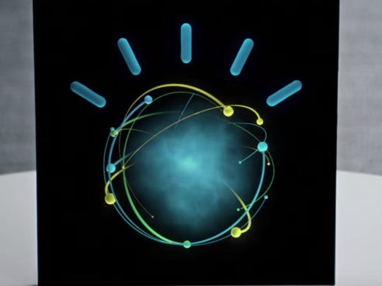 An image of IBM Watson from a commercial with tennis