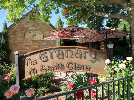 The Santa Clara Tithing Granary is now a French restaurant