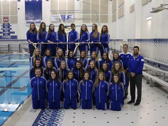 Franklin Community girls swimming team