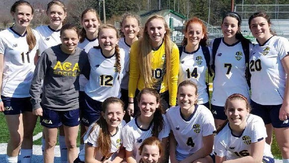The Asheville Christian Academy girls soccer team.